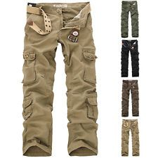 Fashion Men's Cargo Pants Military Multi-pocket Combat Work Casual Suit Trousers