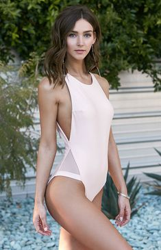 Mesh Inset One Piece Swimsuit