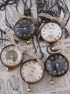 Watch necklaces- great use for old watches and a lovely present for New Year's.
