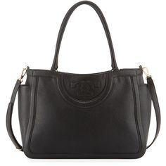 1c023ffc6d2d Tory Burch Serif-T Leather Satchel Bag ( 525) ❤ liked on Polyvore featuring