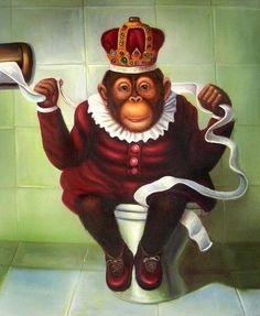 Diamond Painting Monkey Toilet Full Square Drill DIY Mosaic Diamond Embroidery Cross Stitch Kits Home Bathroom Wall Decor Painting Cartoon Monkey, Monkey Art, Ape Monkey, Cross Stitch Kits, Cross Stitch Embroidery, Mosaic Diy, 5d Diamond Painting, Cross Paintings, Creative Activities
