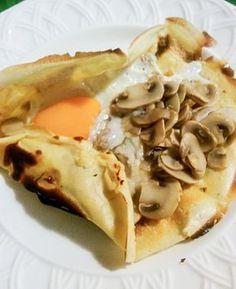 Crêpes de Champiñon, queso y huevo