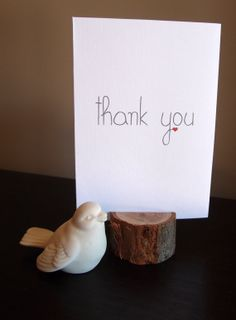 Thank you card  thank you note by LittleWhiteMouse, $3.00 #thankyou #card