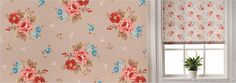 Roller Blinds - Luxury, Made to Measure in the UK Roller Blinds, Contemporary Style, Pink Blue, Taupe, English, Luxury, Rose, Pattern, Beige