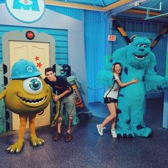 Monsters Inc at Disney, take photos with monsters!