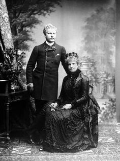 Prince Carlos de Bragança (1863-1908) with his mother Queen Maria Pia de Sabóia (1847-1911)