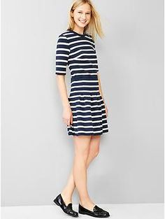 this looks kinda awesome if it fits well  Stripe scuba fit & flare dress