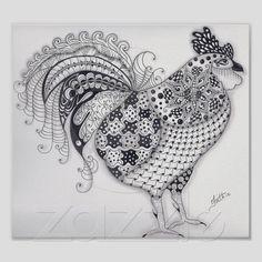 Coq normal poster de Zazzle.fr