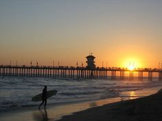 Huntington Beach  :)  aka: Surf City USA  When we were growing up in So Cal our biggest decision was which beach to go to on any given day. Huntington, Newport, or Laguna.  Oh my, life was so tough :))