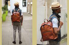The Bridge Italy Rucksack Backpack - Martell Campbell 8 Rucksack Backpack, Leather Backpack, Classic Style, Style Me, British Style, Fashion Bloggers, Tan Leather, Gentleman, Bridge