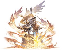 View an image titled 'Light Charlotta, Battle Art' in our Granblue Fantasy art gallery featuring official character designs, concept art, and promo pictures. Game Character Design, Character Design Inspiration, Fantasy Kunst, Fantasy Art, Granblue Fantasy Characters, Superhero Villains, Flash Art, Anime Style, Landscape Art