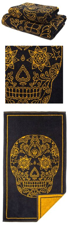 Turn your bathrooms into powerful spaces of inspiration with the unique towels from us. So now you don't just clean your body, you'll be getting a gentle reminder to cleanse your soul as well Creative Words, Creative Art, Mandala Towel, Dark Images, Gothic House, Skull Design, Flower Of Life, Skull And Bones, Skull Art