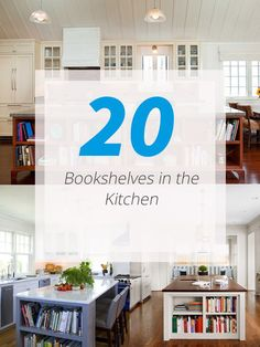 20 Charming Ways of Adding Bookshelves in the Kitchen If you are a bookworm, for sure you would also love to have a bookshelf even in the kitchen!     Bookworm or not, having additional shelves in your house is something we both need and want. Never mind if we'd actually use it as bookshelves o...