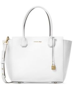 Streamlined sophistication translates into practical polish with MICHAEL Michael Kors' spacious Mercer satchel. Made from luxuriously textured pebble leather, the Mercer can be worn on your arm by its…More Click VISIT link above to see Michael Kors Satchel, Michael Kors Shoulder Bag, Handbags Michael Kors, Cheap Handbags, Purses And Handbags, Brown Handbags, Mens Satchel, White Handbag, Purses