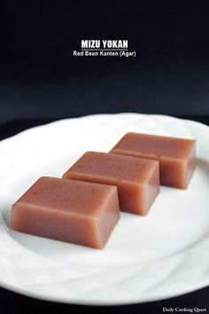 Japanese mizu yokan is one of the simplest and most elegant dessert. The ingredients are minimal: azuki an (red bean paste), kanten powder (agar powder), sugar, and water. You can use ready made azuki an, or if it is not easily available where you live, I have a simple recipe …