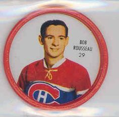 1962-63 Shiriff Coins 56 Bob Rosseau Canadiens Excellent to Mint by Shiriff. $7.50. This vintage card featuring Bob Rosseau is # 56 from the 1962-63 Shiriff Coins set