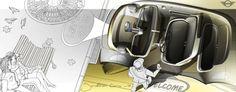 Mini interior designer Jonathan Cornu's render of the Vision Next 100 concept