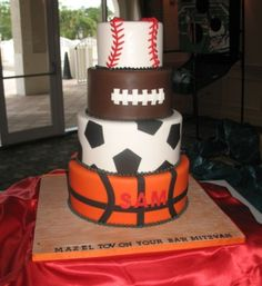 Sports Bar Mitzvah Cake