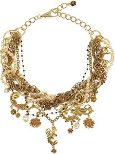 a82be8cd98d0bd Dolce   Gabbana Goldplated Glass Pearl Necklace Sac, Collier, Couture,  Colliers Fantaisie,