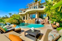 Luxury estate | Carlsbad | San Diego | California | Vacation rentals | Private sandy beach | Resort style pool | alfresco dining |  ---> https://www.vaystays.com/p104959