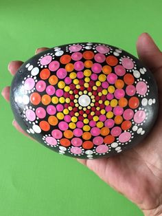 A personal favorite from my Etsy shop https://www.etsy.com/listing/245053514/mandala-stone-hand-painted-rock-large