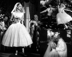 The epitome of cute - Audrey Hepburn at her wedding in the American musical film 'Funny Face'.