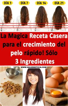 La Magica Receta Casera para el crecimiento del pelo rápido! Sólo 3 Ingredientes #magica #receta #pelo #ingredientes #belleza Salud Natural, Tips Belleza, Long Hair Styles, Beauty, Wash Hair, Hair Loss, Hair Care, Hair Beauty, Hair Growth