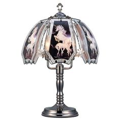 OK Lighting Unicorn Theme Touch L& Black Chrome  sc 1 st  Pinterest & Special Offers - OK Lighting OK-603DO-M1 14.25-Inch Touch Lamp with ...