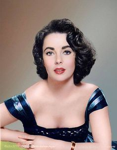 Elizabeth Taylor - no colour of blue can rival those violet eyes!