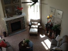 birds eye view of a living room furnished by Classic Furniture