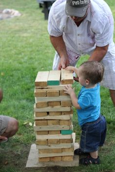 Jenga, outside activity for all ages. Full instruction on how to build your own set.