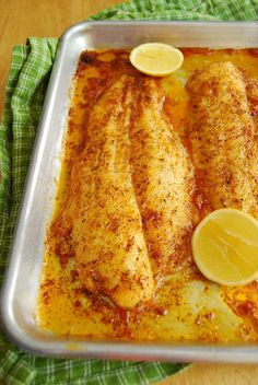 Buttery Broiled Sole Note: I used coconut oil instead of butter and it was delicious