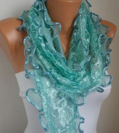 scarf shawl    Free scarf  Teal  fatwoman by anils on Etsy, $18.00