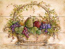24 x 18 Art Mural Ceramic Fruit Grape Pear Basket Backsplash Tile #117