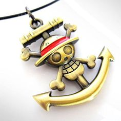 One Piece Skull Logo Anchor Logo Necklace *** Click here for more details @ http://www.amazon.com/gp/product/B00CI5Z9HE/?tag=splendidjewelry07-20&pno=140716115759