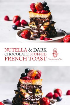 Here's what we're going to do. We're going to make this easy Nutella & Dark Chocolate Stuffed French Toast recipe for a tasty breakfast using some wonderful brioche, and then adorn it with fresh strawberry (or any berries! Sound good to you, bestie? Brunch Recipes, Breakfast Recipes, Dessert Recipes, Breakfast Ideas, Breakfast Club, Cake Recipes, Sunday Breakfast, Sunday Brunch, Dessert Ideas