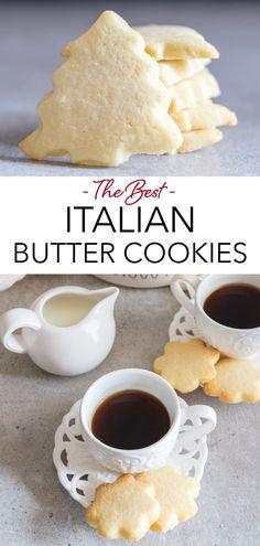 Köstliche Desserts, Holiday Baking, Christmas Desserts, Delicious Desserts, Dessert Recipes, Xmas Cookies, Yummy Cookies, Christmas Cookies Simple, Butter Cookies Christmas