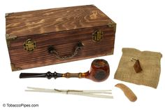 """TobaccoPipes.com - Owl Pipes """"The Faun's Pipe"""" Tobacco Pipe Gift Set, $136.00 (http://www.tobaccopipes.com/owl-pipes-the-fauns-pipe-tobacco-pipe-gift-set/)"""