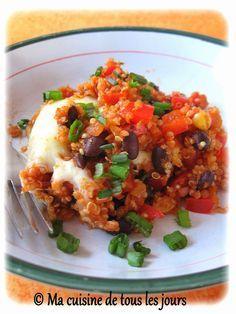 Ma cuisine de tous les jours: Casserole d'enchilada aux haricots noirs et quinoa...