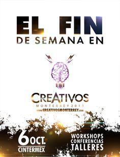 #CREATIVOS los esperamos, saben que sera un día genial y lleno de creatividad  6 de Octubre en CINTERMEX
