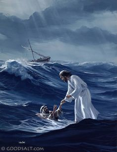 """Immediately Jesus reached out his hand and caught him. """"You of little faith,"""" he said, """"why did you doubt?"""""""