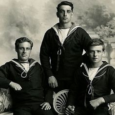 3 British sailors, circa WWI