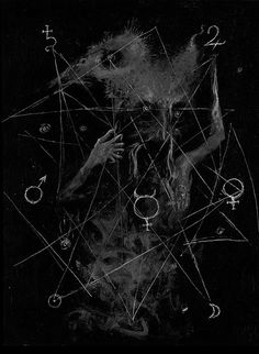 Great use of symbols, texture, apparition, and human body to evoke terror Wicca, Magick, Witchcraft, Fairy Tail Story, Occult Art, Vintage Gypsy, Typography Inspiration, Black Magic, Macabre