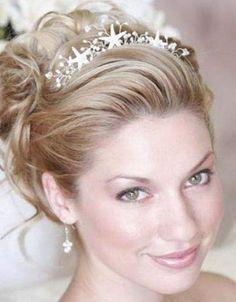 wedding hair dos with veil -