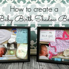 Baby Birth Shadow Boxes