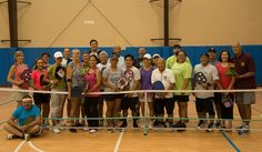 Indoor pickleball at Kalaheo Neighborhood Center Gym in Kalaheo (Kauai), HI.