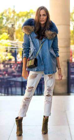 Street style look com ankle boot.