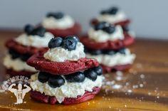 Red Velvet Patriotic Protein Waffle Stack #fitmencook fitmencook.com