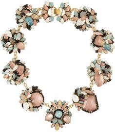 Erickson Beamon Multicolor Girls On Film Goldplated Swarovski Crystal Necklace