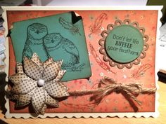 card with owls stamp I Card, Owls, Feather, Stamp, Art, Art Background, Quill, Stamps, Kunst